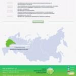 Карта партнеров на сайте Союза органического земледелия